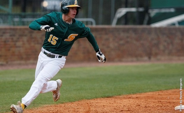 Corey Bryan rounds third for Southeastern, a program used to eyeing their status on the NCAA baseball bubble in May.